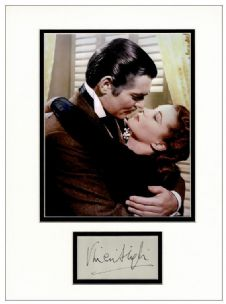 Vivien Leigh Autograph Signed - Gone Withe The Wind